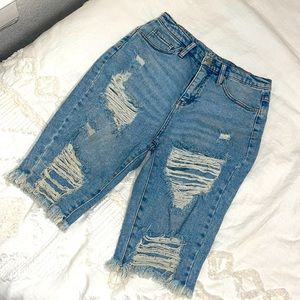 Wild Fable High Waisted Ripped Jean Shorts